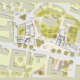 1. Platz beim städtebaulichen Wettbewerb Ortszentrum Michelhausen